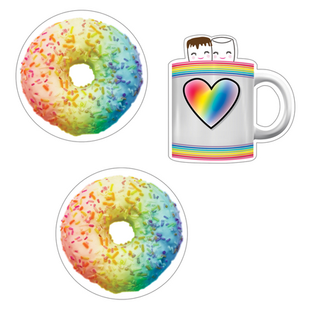 Donuts and Cocoa Mugs Cut-Outs
