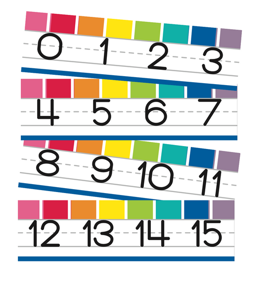 Hello Sunshine Rainbow Number Line {U PRINT}