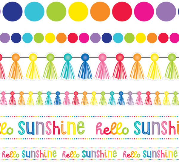 Hello Sunshine Rainbow -  Bulletin Borders