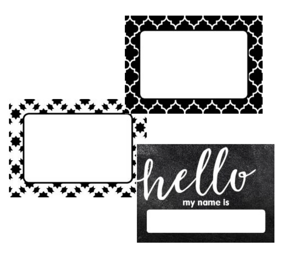 Industrial Chic Hello! Name Tags {U PRINT}