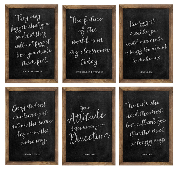 Industrial Chic Inspirational Posters Chalkboard {U PRINT}