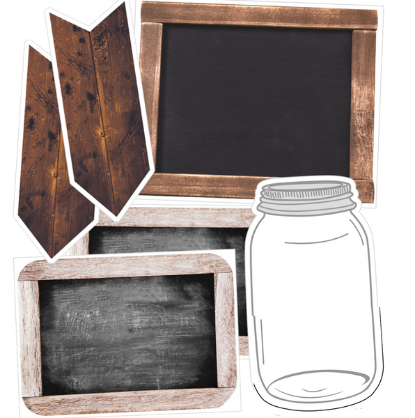 Industrial Chic (EDITABLE) SHIPLAP CHALKBOARD, MASON JAR and WOODEN SIGNS {U PRINT}