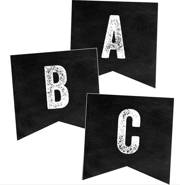 Industrial Chic Alphabet Banner Letters {U PRINT}
