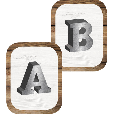 Industrial Chic SHIPLAP Metal ABC Signs {U PRINT}