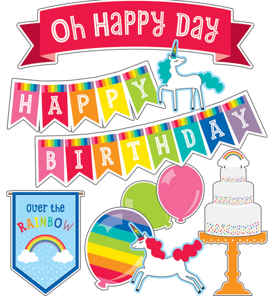 Hello Sunshine Rainbow Birthday Bulletin Board