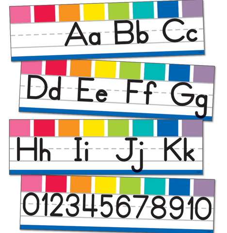 Hello Sunshine Rainbow - Manuscript Alphabet Line