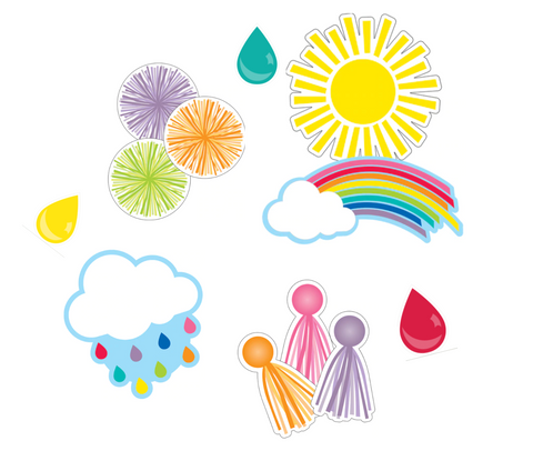 Hello Sunshine Rainbow Cutouts {U PRINT}