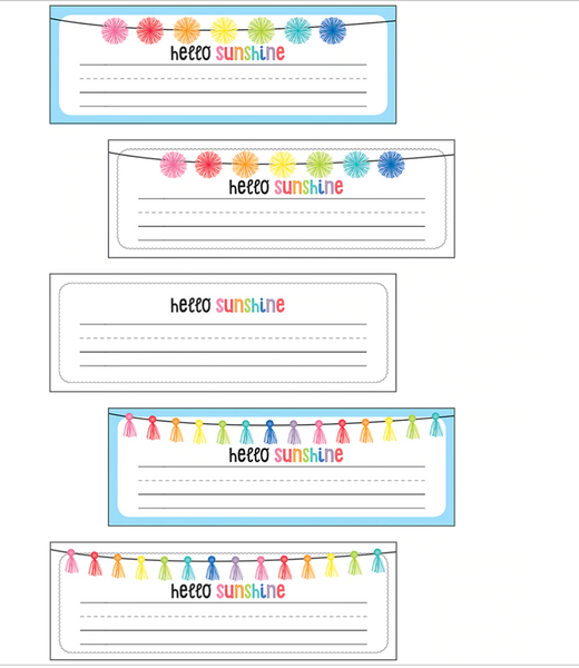 Hello Sunshine Rainbow Nameplates {U PRINT}