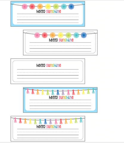 Hello Sunshine Rainbow Nameplates