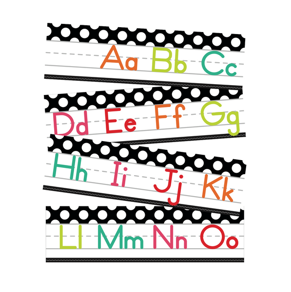 Black, White and Stylish Brights Alphabet Line Manuscript (Black) {U PRINT}