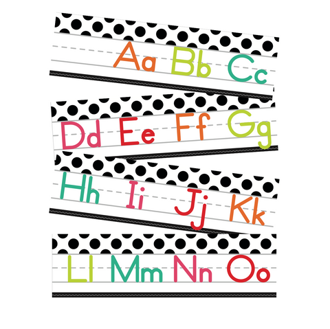 Black, White and Stylish Brights Alphabet Line Manuscript (White) {U PRINT}
