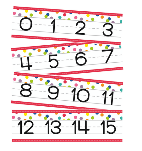 Confetti Crush - Number Line {U PRINT}