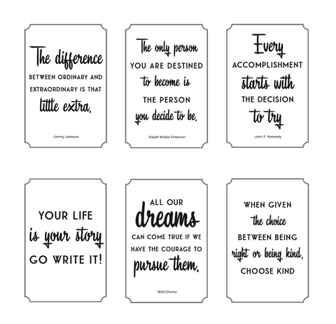 Black, White and Stylish Brights Posters {U PRINT}