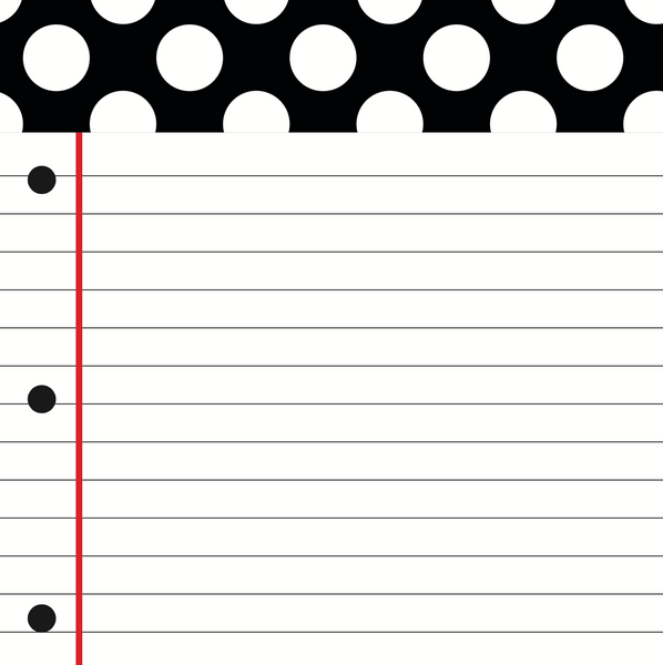 Black, White and Stylish Brights NOTEBOOK PAPER Cut-Outs {U PRINT}