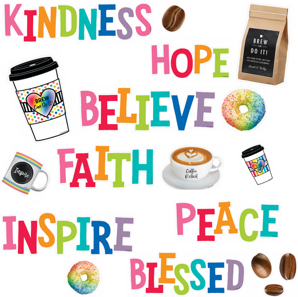 Bright and Brew-tiful 'Morning Motivators' Mini Bulletin Board Set {U PRINT}