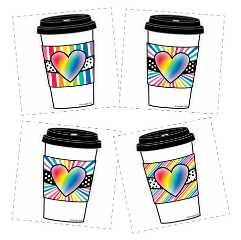Bright and Brew-tiful Rainbow To-Go Cup Cut-Outs {U PRINT}