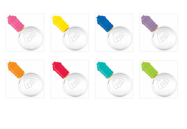 Bright and Brew-tiful Rainbow Round Lightbulb Cut-Outs {U PRINT}