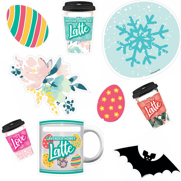 Seasonal Coffee To-Go Cups, Mugs and Cutouts! {U PRINT}