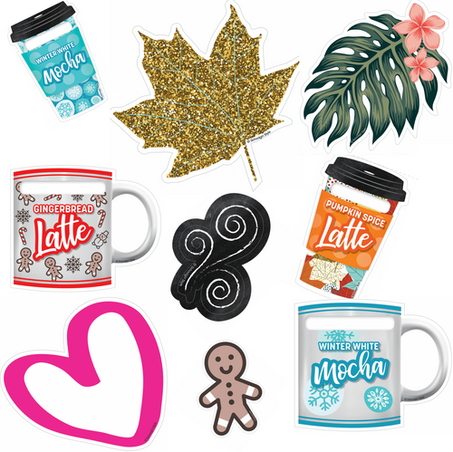 Schoolgirl Style - Seasonal Coffee To-Go Cups, Mugs and Cutouts! {U PRINT}
