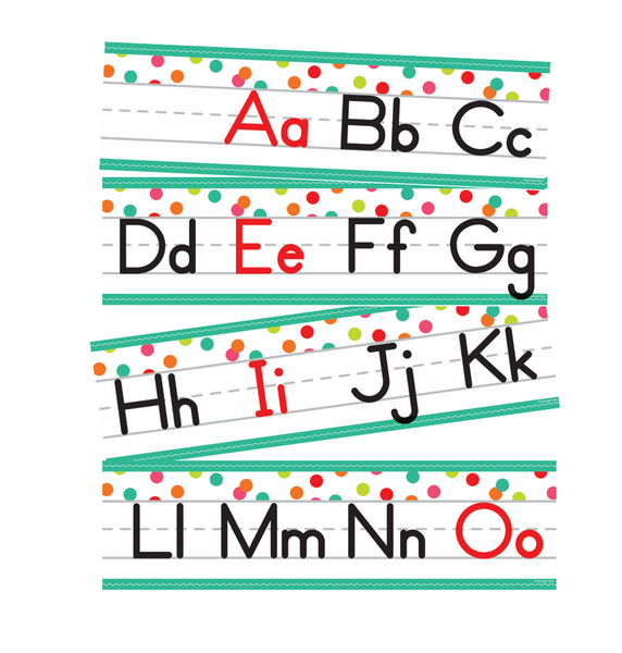 Black, White and Stylish Brights Confetti Manuscript Alphabet Line {U PRINT}