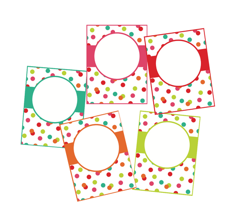 Black, White and Stylish Brights Confetti EDITABLE Binder Covers  {U PRINT}