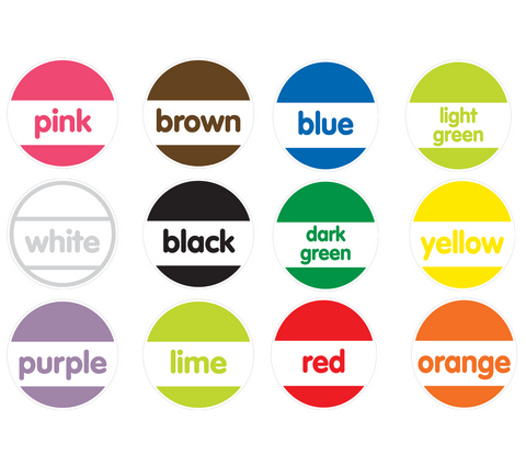 Black, White and Stylish Brights Confetti Color Labels {U PRINT}
