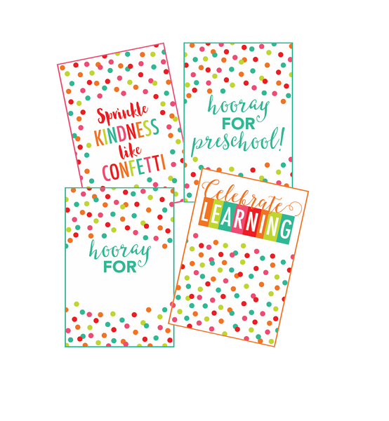 Black, White and Stylish Brights Confetti Posters {U PRINT}