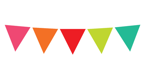 Black, White and Stylish Brights Confetti Pennant Banner {U PRINT}