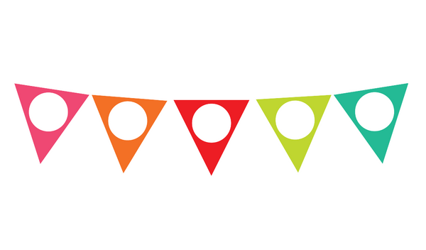 Black, White and Stylish Brights Confetti EDITABLE Pennant Banner {U PRINT}