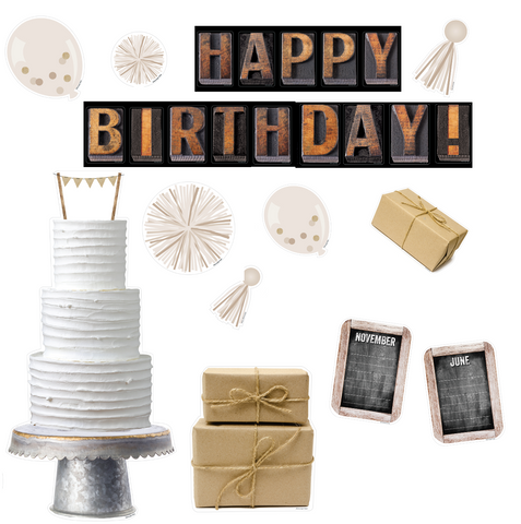 Industrial Chic Birthday Bulletin Board {U PRINT}