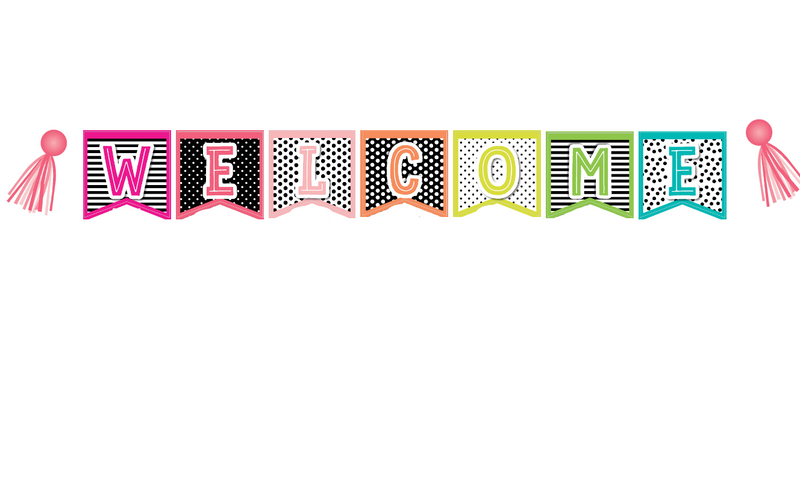 Schoolgirl Style - Simply Stylish Tropical 2 Point Welcome Banner {U PRINT}