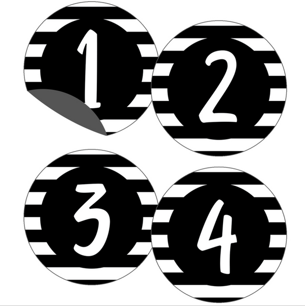 Simply Stylish Magnetic Number Cutouts