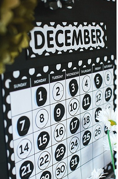 Chalkboard and Polka Dot Calendar Set {U PRINT}