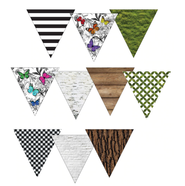 Woodland Whimsy Pennant Banner {UPRINT}