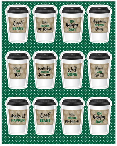 To-Go Cups Motivational Stickers