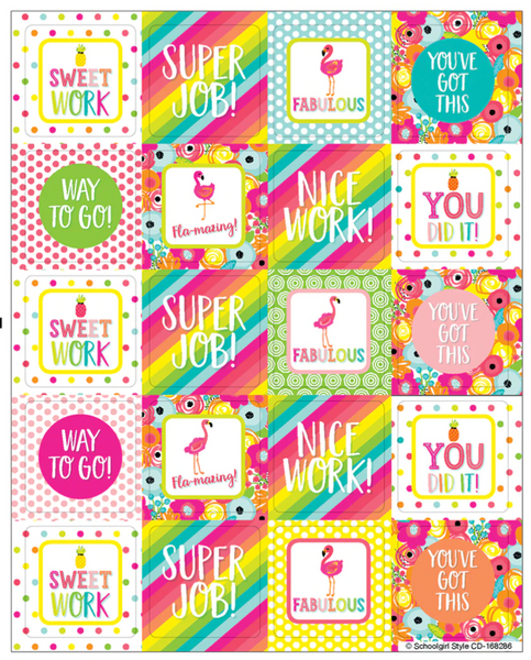 Simply Stylish Tropical Motivators Motivational Stickers