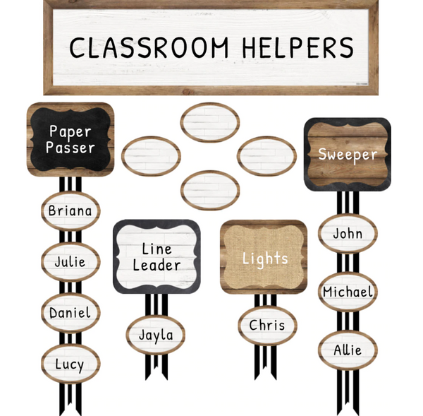 Industrial Chic Classroom Jobs Bulletin Board Set
