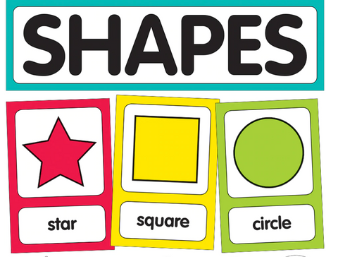 Just Teach Rainbow- Shape Cards