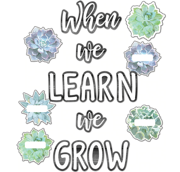 When We Learn, We Grow Bulletin Board Set