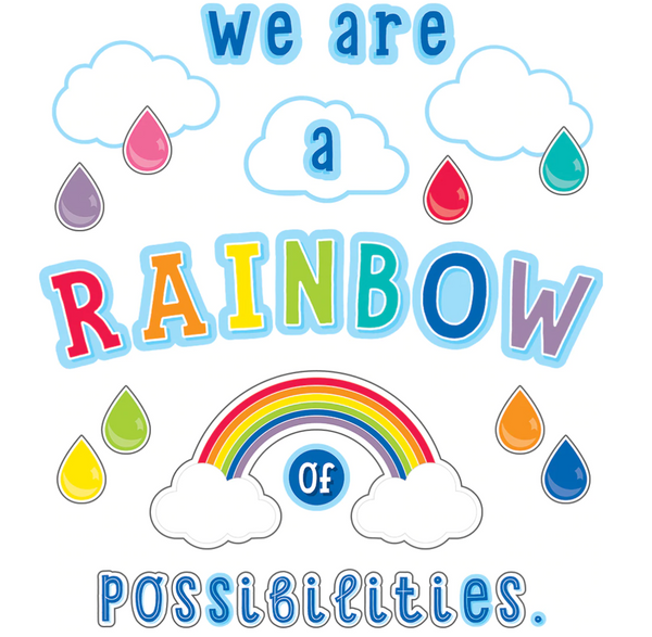 Rainbow of Possibilities Bulletin Board Set