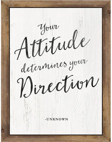 Your Attitude Determines Chart