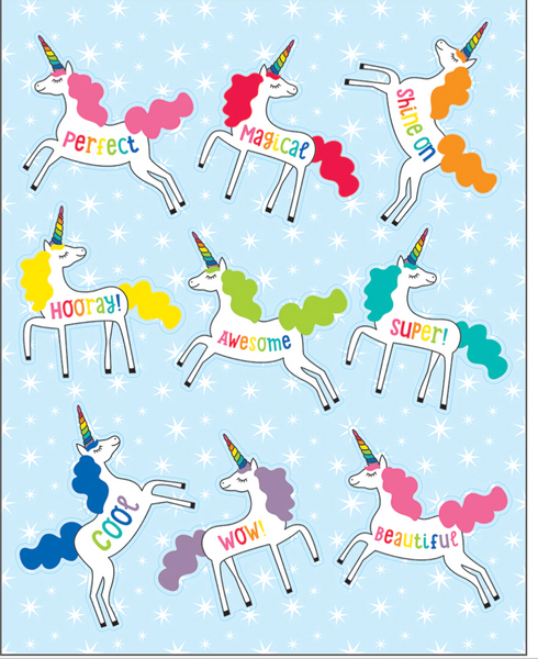 Unicorns Shape Stickers