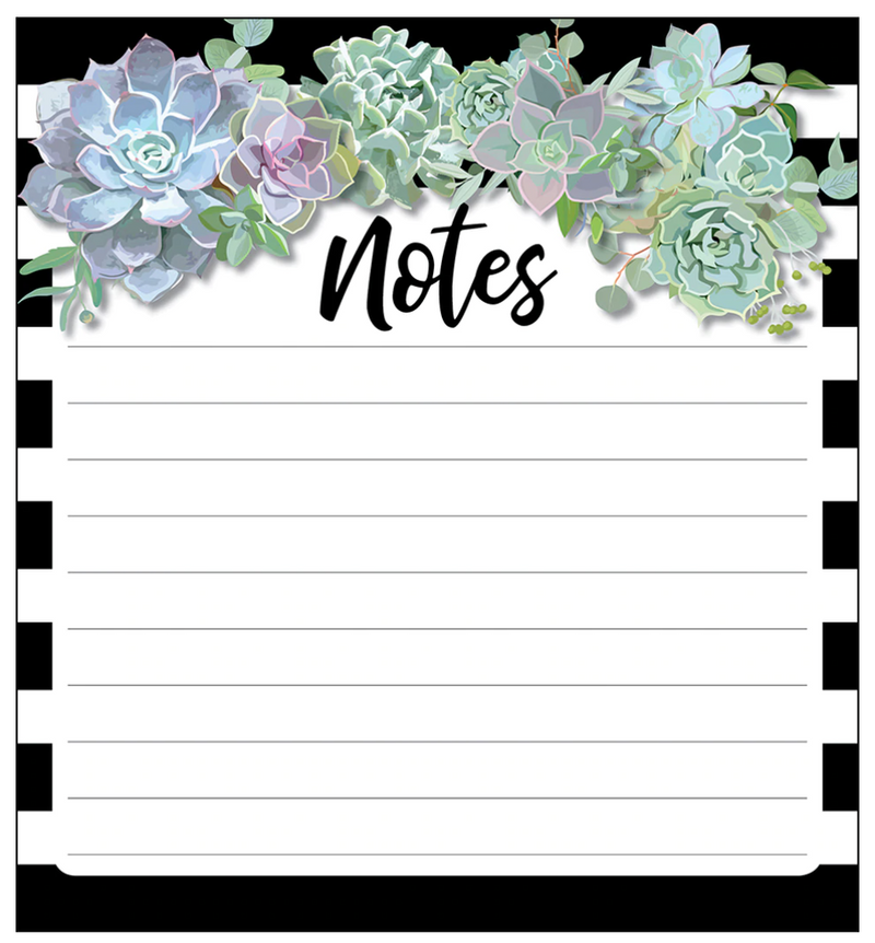 Schoolgirl Style - Simply Stylish Succulents Notepad