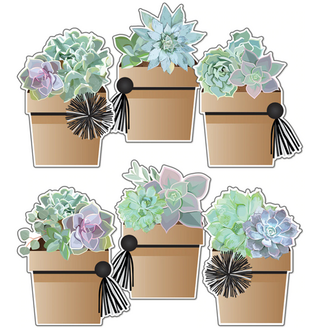Potted Succulents Cutouts