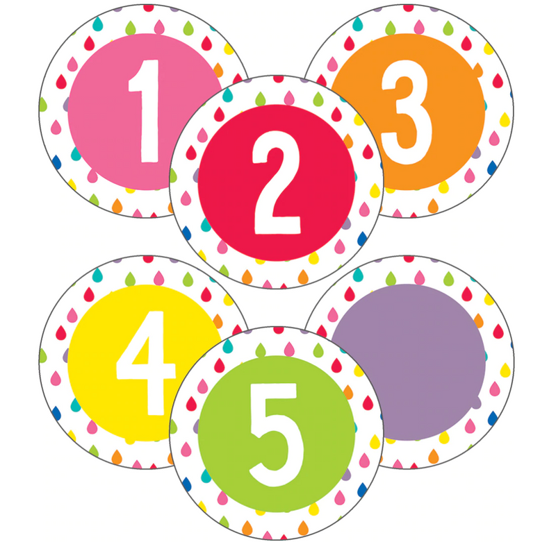 Schoolgirl Style - Hello Sunshine Rainbow Student Numbers Mini Cutouts