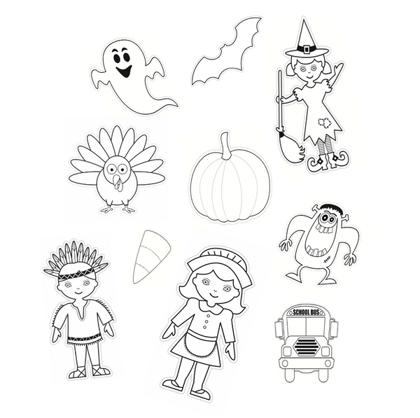 Color My Classroom Autumn Bundle Cut Outs {UPRINT}