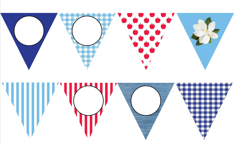 Southern Charm Pennant Banner {UPRINT}