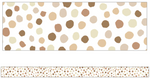 Schoolgirl Style - Simply Stylish Boho Rainbow Neutral Painted Dot Foundation Border