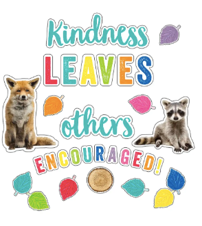"Woodland Whimsy ""Kindness Leaves Others Encouraged"" Bulletin Board"