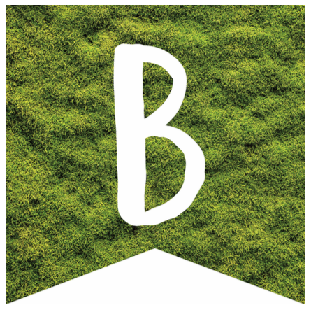 Woodland Whimsy-Banner Letters Moss